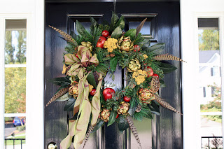 Holiday Wreath by Pink Dogwood Blossom