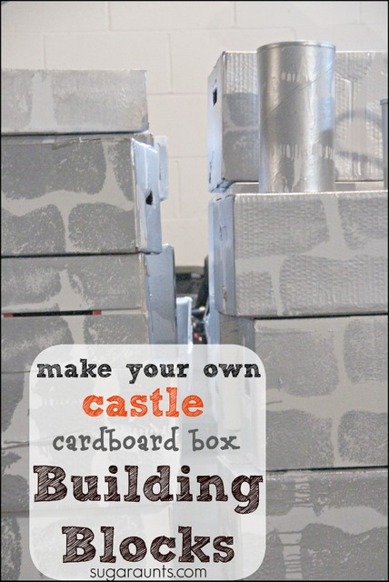 how to make a castle out of cardboard boxes