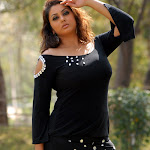 Namitha in Black Dress Spicy Photos
