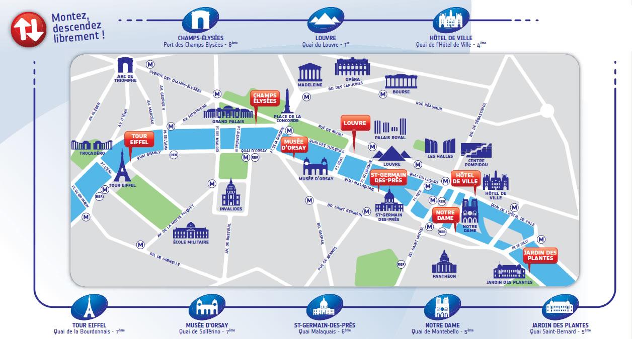 Batubus Paris route map Paryż Paryz autobus wodny
