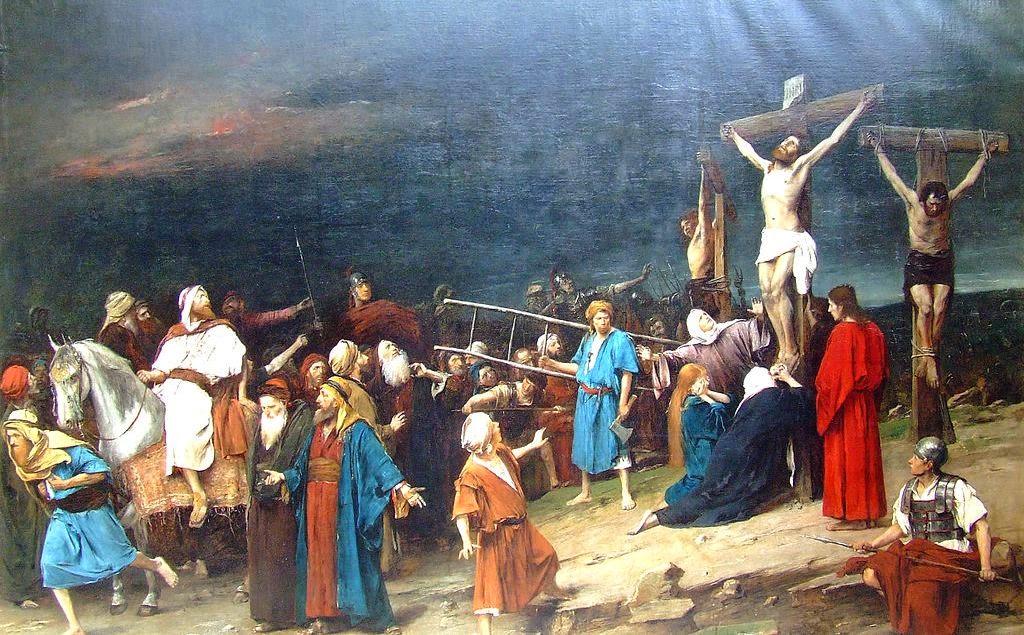 feltámadás, Húsvét, ünnep, kereszténység, Munkácsy Mihály, Golgota