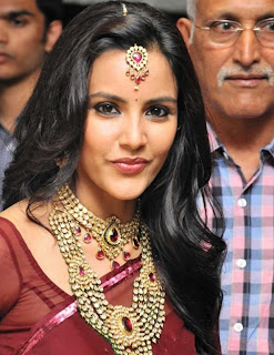 Priya Anand models a Spicy Transparent Saree and Heavy Gold Jewellery Spicy Priya Anand