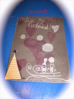 Christmas dibujado y árbol papel