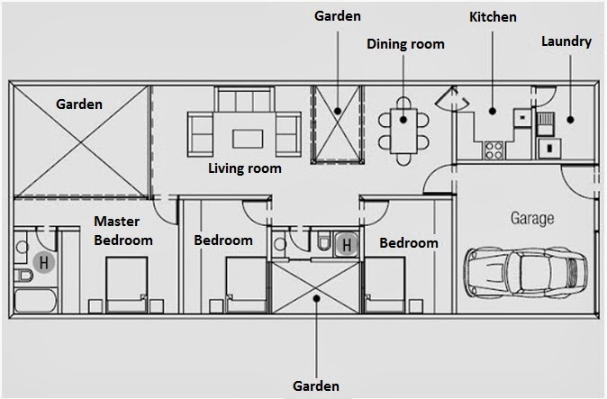 One Floor House Plans