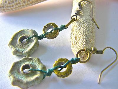 Green Ceramic Earrings