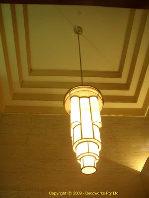 Right hand entrance foyer light
