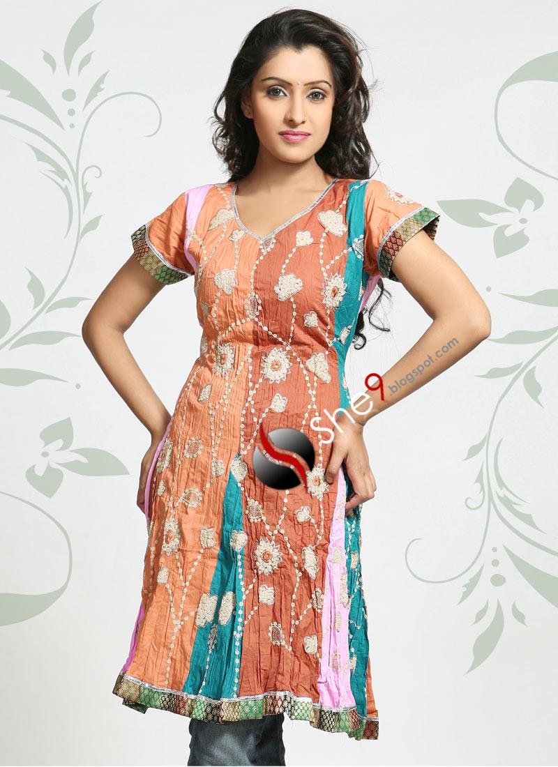 Gujarati Style Kurti or Gujarati Style