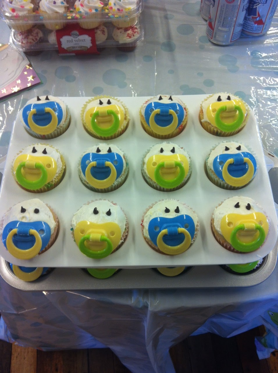 love laughter recipe baby shower cupcakes