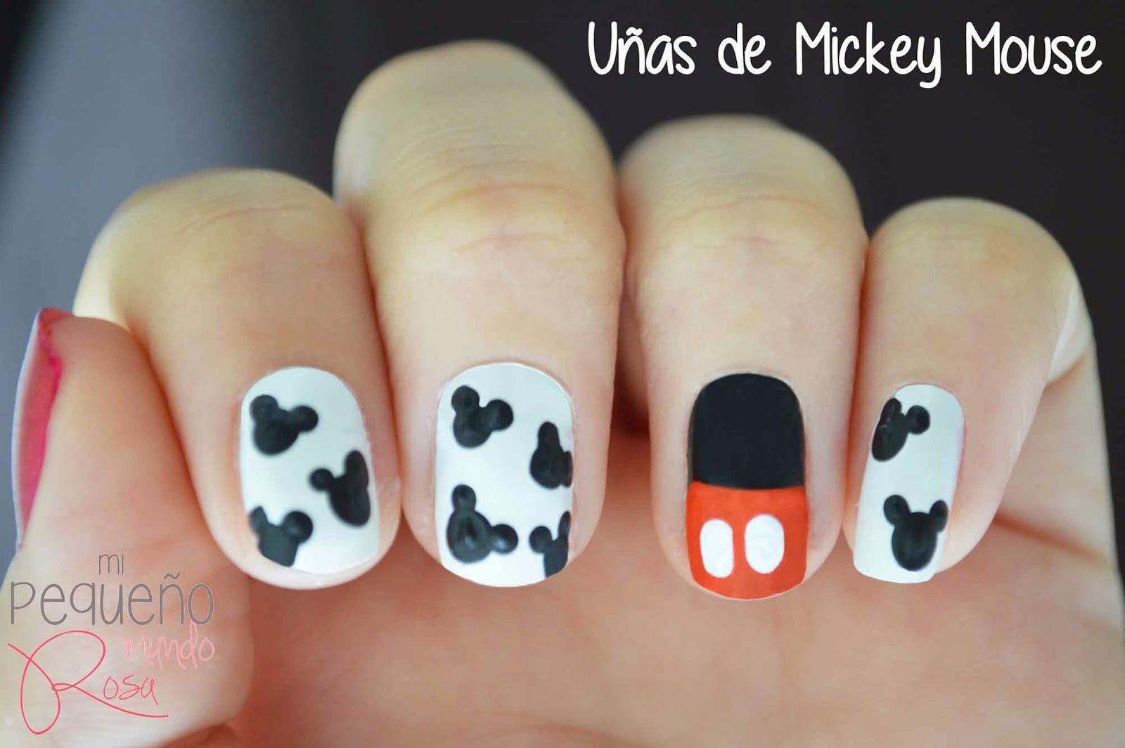Increíble Uñas Y El Diseño De Mickey Mouse Componente - Ideas de ...