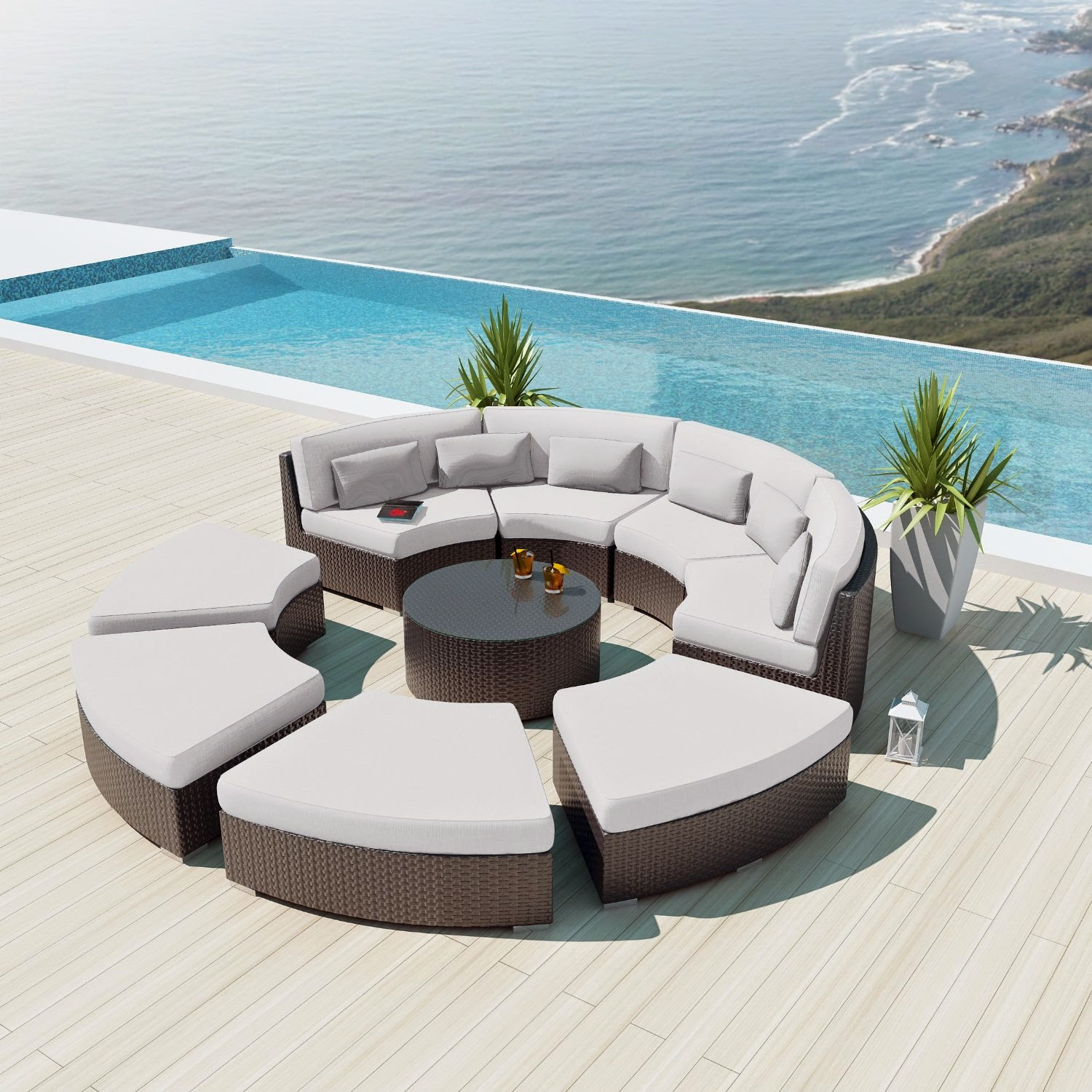 Cheap Outdoor Sofa Curved Outdoor Sofa