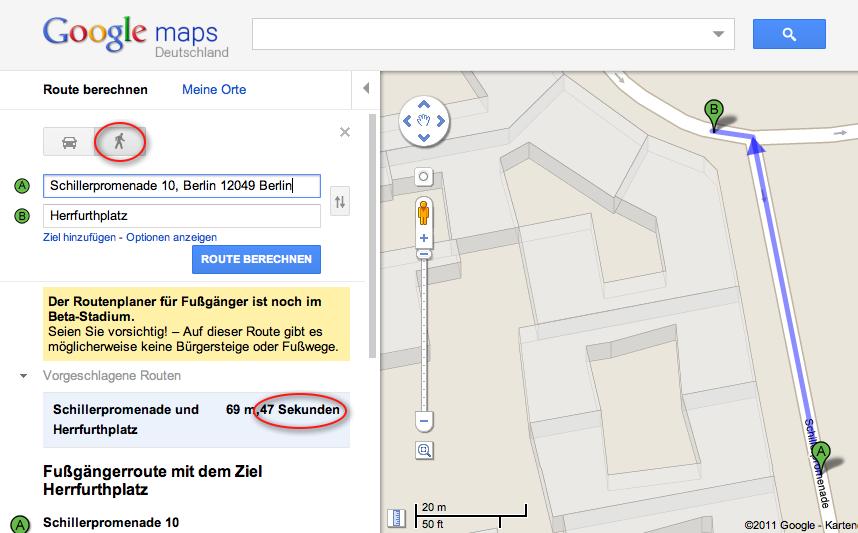 immer in die richtige richtung mit google maps der google produkt kompass. Black Bedroom Furniture Sets. Home Design Ideas