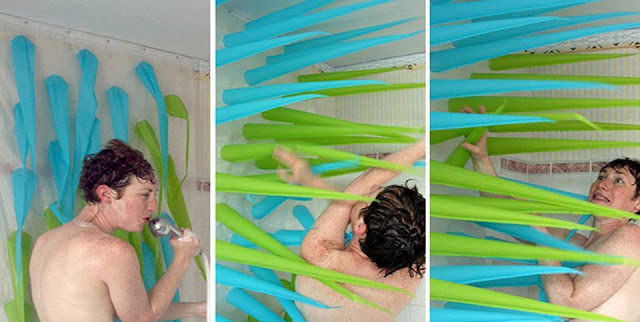 This Spiky Shower Curtain Pushes You Out If You're Under the Water after 10 minutes