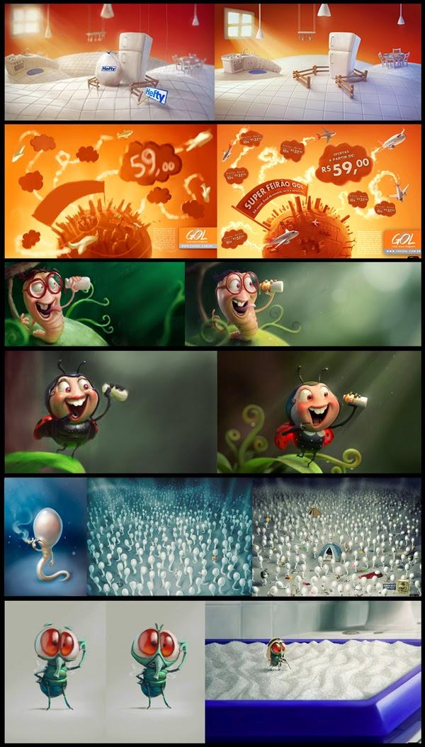 illustration de Tiago Hoisel représentant des concepts humoristiques