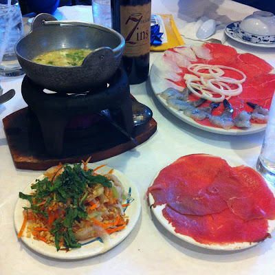 thinly sliced beef, vegetables for vietnamese rice paper beef roll
