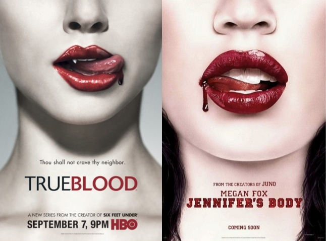 jennifer's body, true blood, locandina