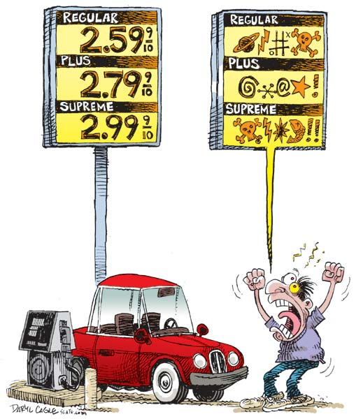 gas prices rising. rising gas prices.