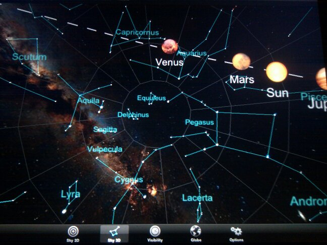 moving pictures of constellations and solar system - photo #1