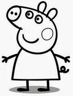 desenhos peppa pig dia das crianças 2014 colorir e pintar