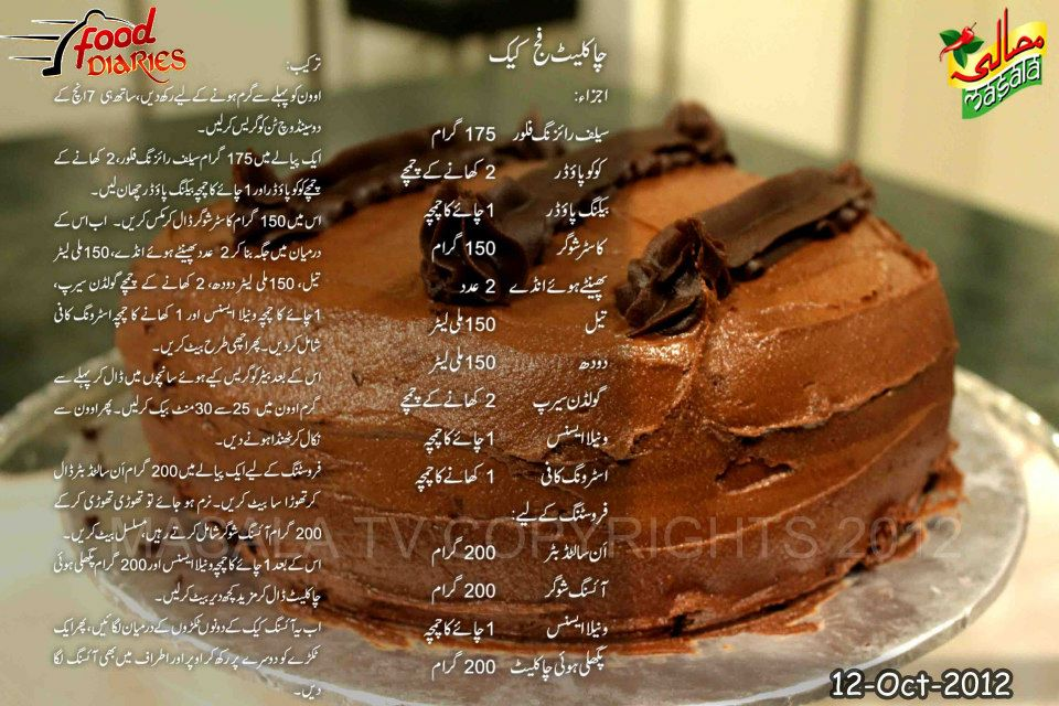 Chocolate fudge cake cake recipe