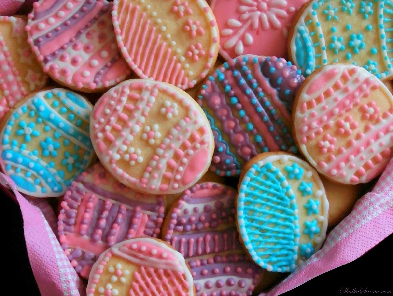 Wielkanocne Migdałowe Kruche Ciasteczka - Przepis - Słodka Strona