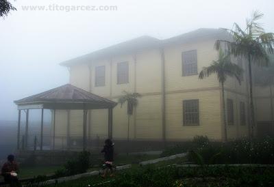 Coreto e Clube União Lyra Serrano, em Paranapiacaba