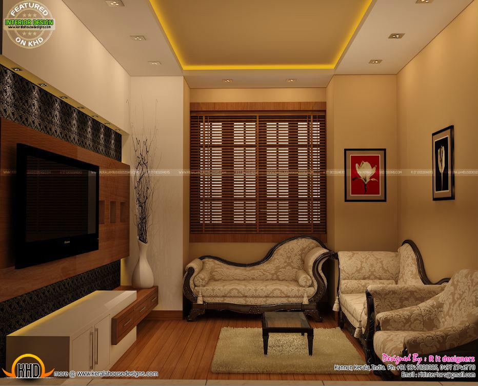 Study Room Modern Kitchen Living Interior Kerala Home