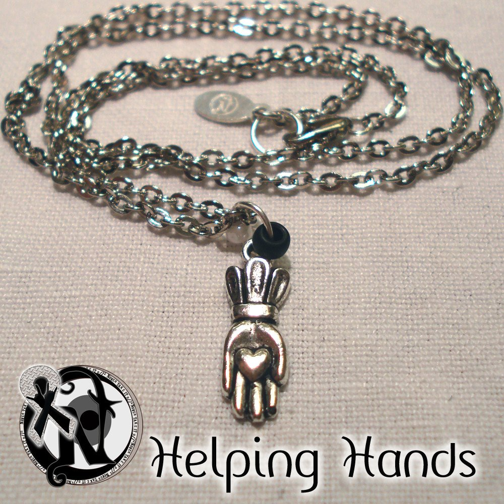 Custom Made Helping Hands Necklace by Never Take It Off