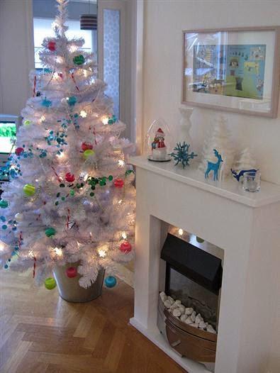 arboles navideños  blancos