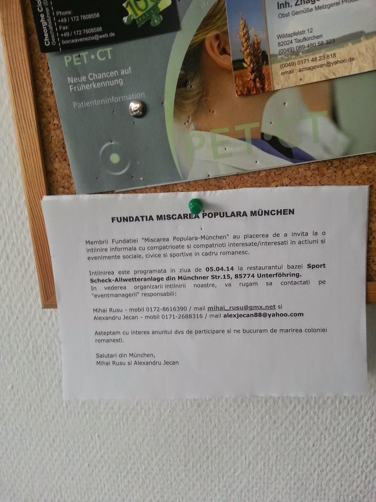 consulatul romaniei la munchen adresa