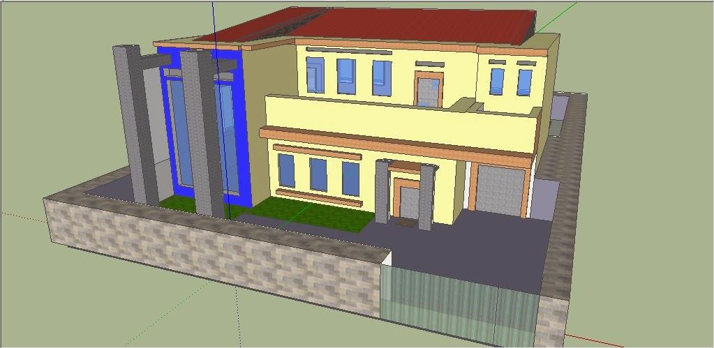SKETCHUP untuk membuat desain rumah yang minimalismewahdan sebagainya ini contoh hasil sketchup yang saya buat ini lah gambarnya