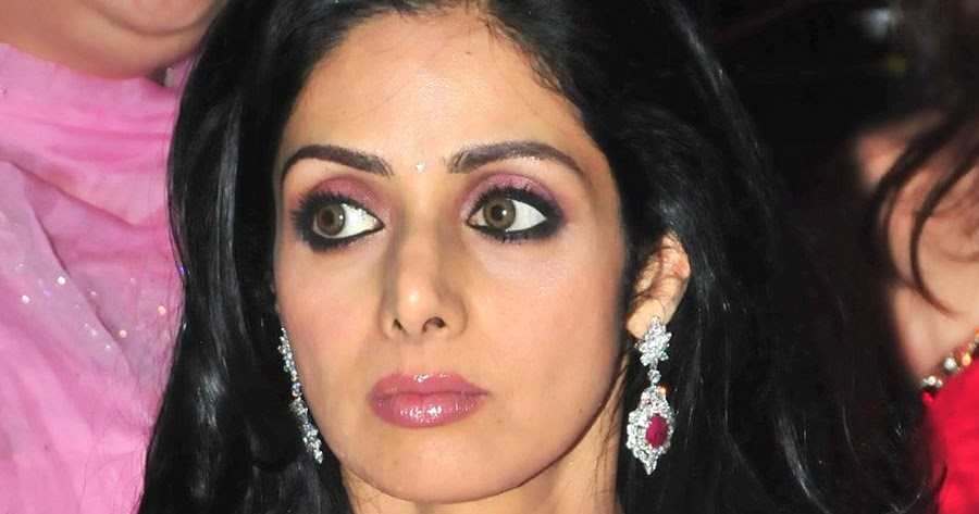 Hairstyle Coiging Sridevi In Diamond Necklace With Rubies