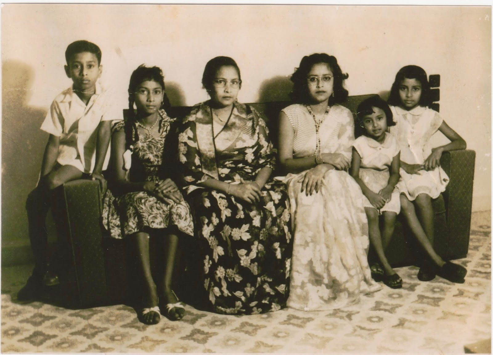 Author Mina Khan's mother, grandmother and family
