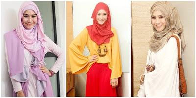 model hijab zaskia adya mecca idul fitri