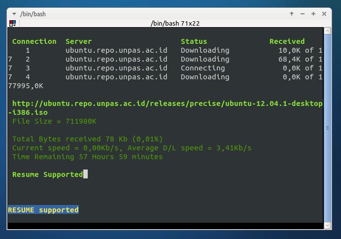 ProZilla di Ubuntu 12.10 Quantal Quetzal