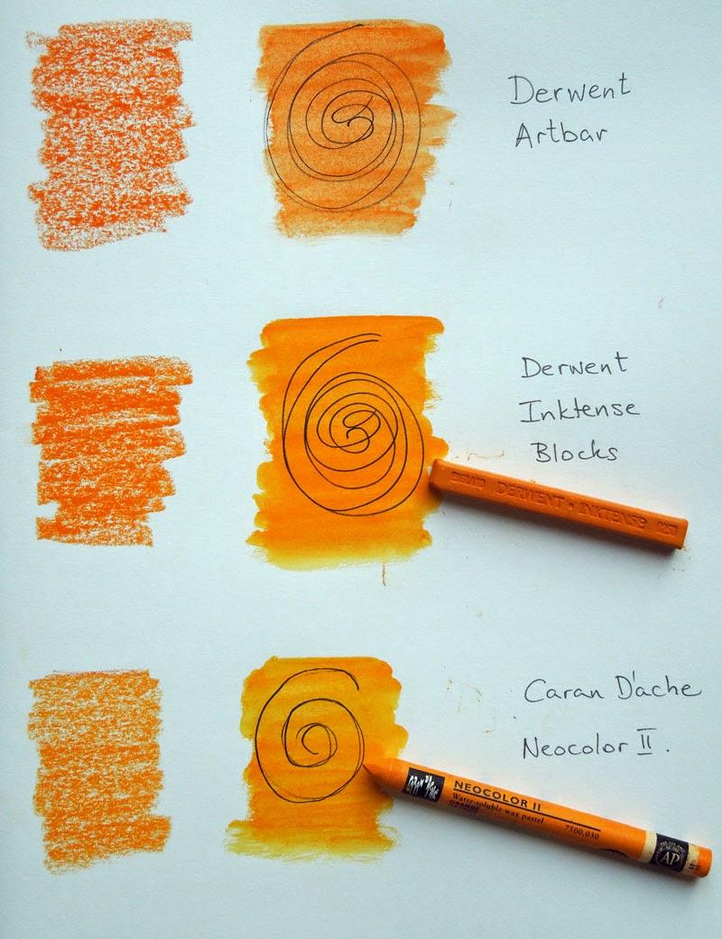 Inky Dinky Doodle Derwent Artbars Vs Derwent Inktense Blocks Vs