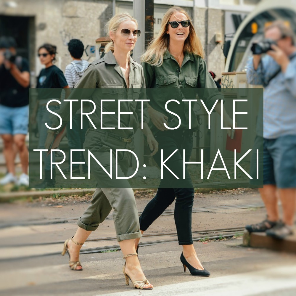 street style colour trend 2015 spring summer khaki outfits looks