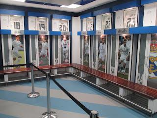 Vestiário do Real Madrid no Estádio Santiago Bernabeu