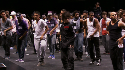 Michael Jackson's – This is it - Hundreds of hopefuls attended the auditions for the group of dancers for the show. Male dancers competing for the few places.