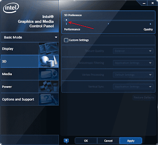 Intel HD Graphics Performance Mode