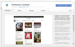 Google Chrome extension for holding Pinterest contests