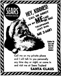 Sears ad that got NORAD to track Santa