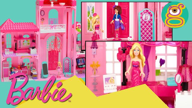 La mansión de lujo de Barbie Mega bloks con 2 muñecas Barbie - Mega bloks Barbie luxury masion