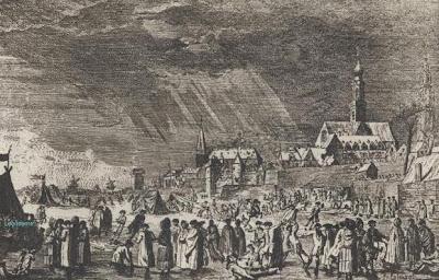 Ijskermis  op de Schelde in 1715 en 1716