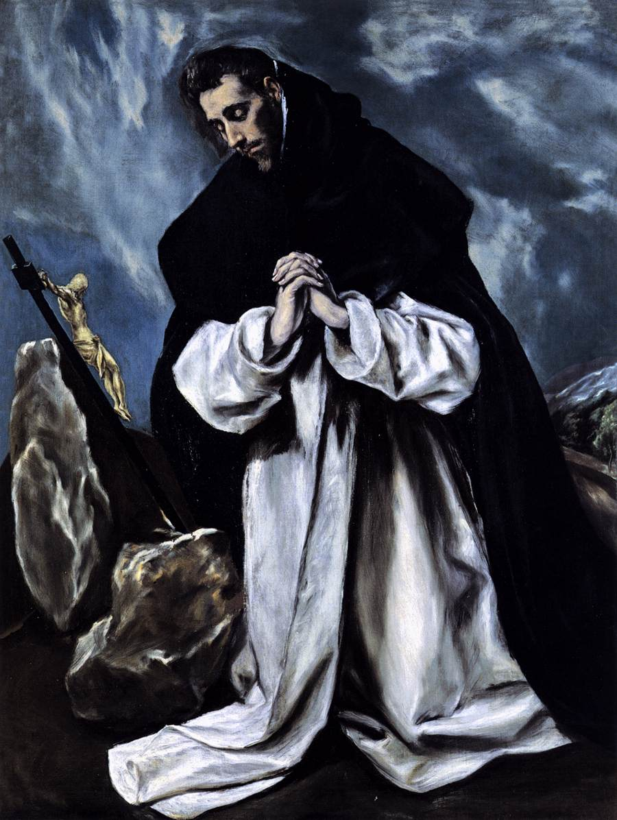 El Greco: Dominikus i bønn