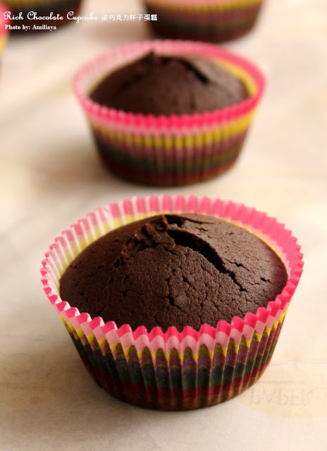 Rice chocolate cupcake