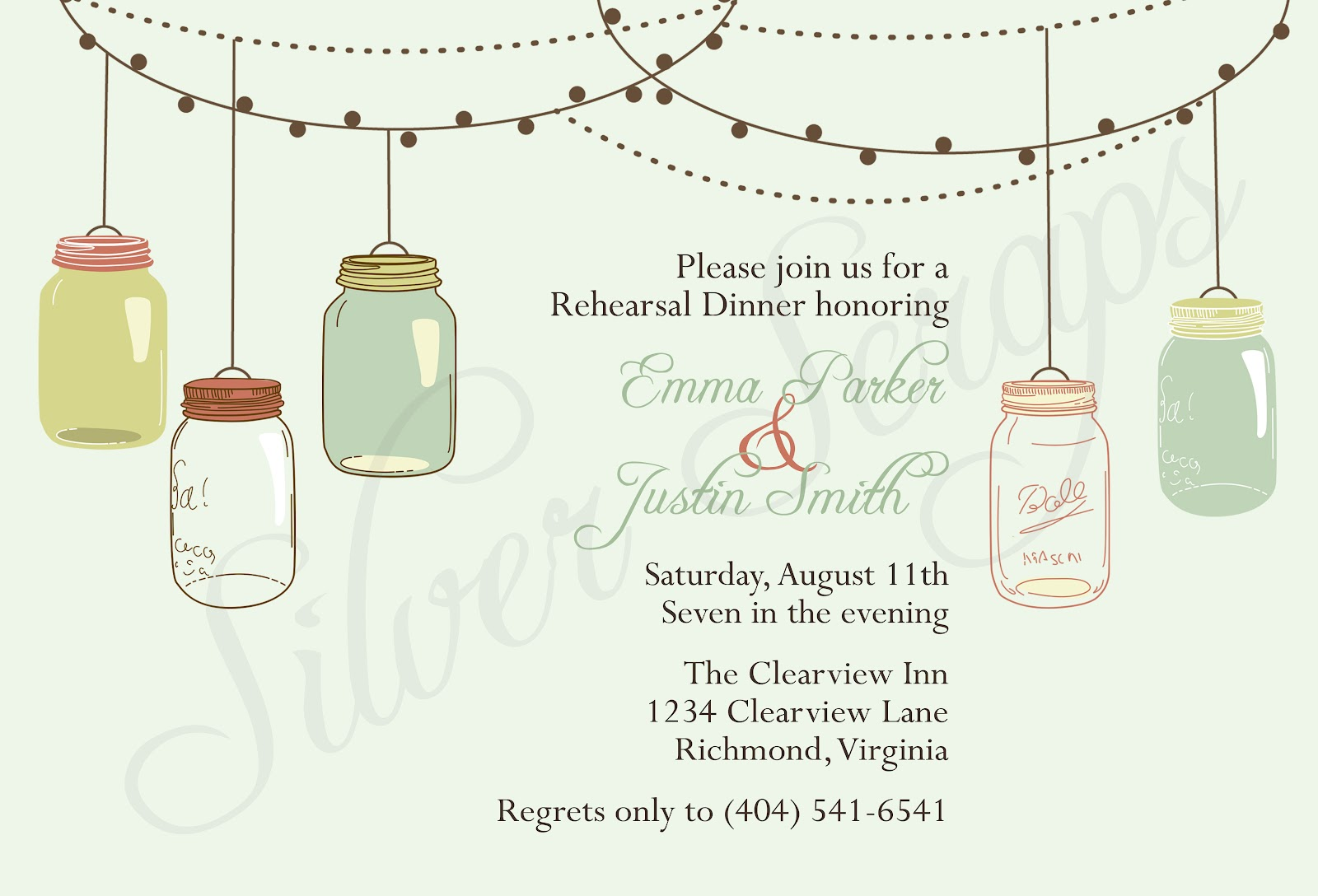 Finding Beauty in Life Vintage Mason Jar Invitations for Garden Party