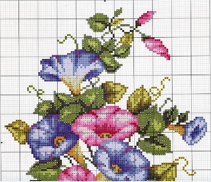 Maravilloso ramo de flores | laboresdeesther Punto de cruz gratis