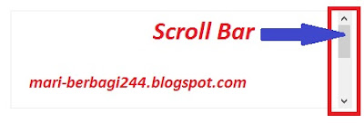 Cara Membuat Scroll Bar Di Postingan Blog