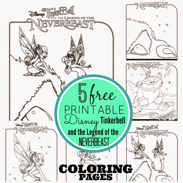 Free Printable Disney Tinkerbell And The Legend Of NeverBeast Coloring Pages