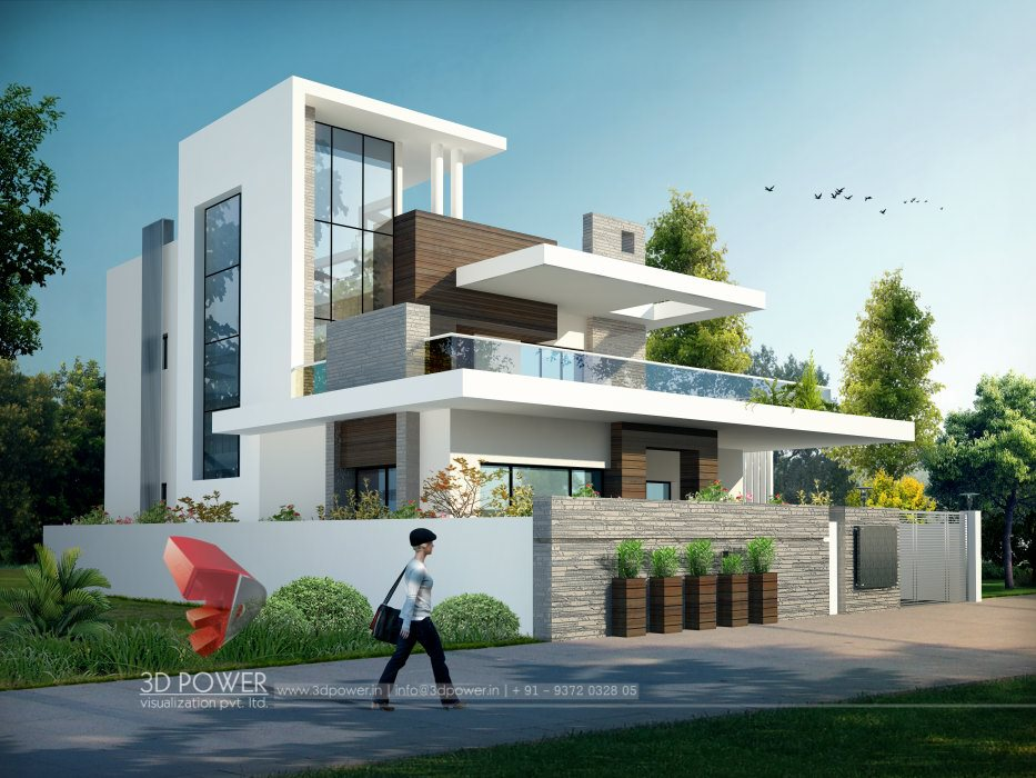 Ultra modern home designs home designs modern home for Bungalow outside design